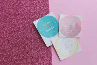 Set of 3 Stickers [Handcrafted with Love]